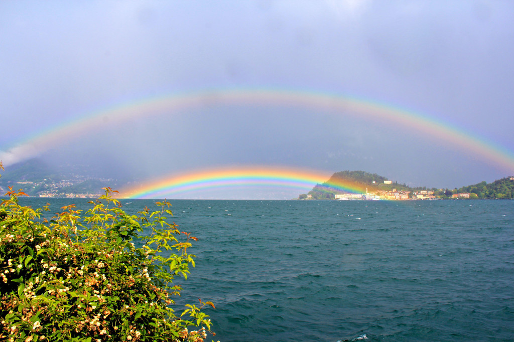 Double Rainbow on Lake Como