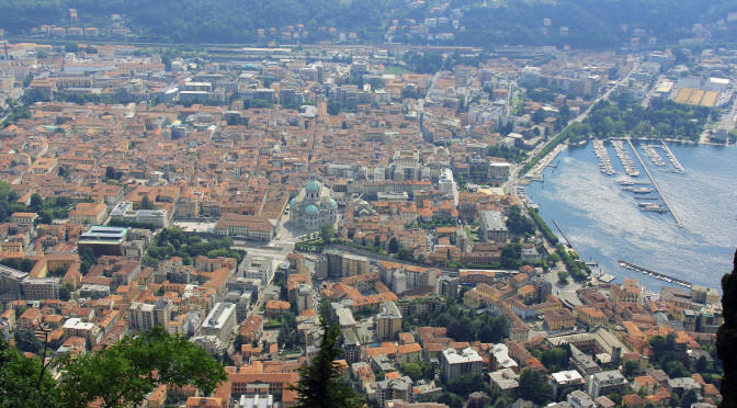 View of Downtown Como from Brunate