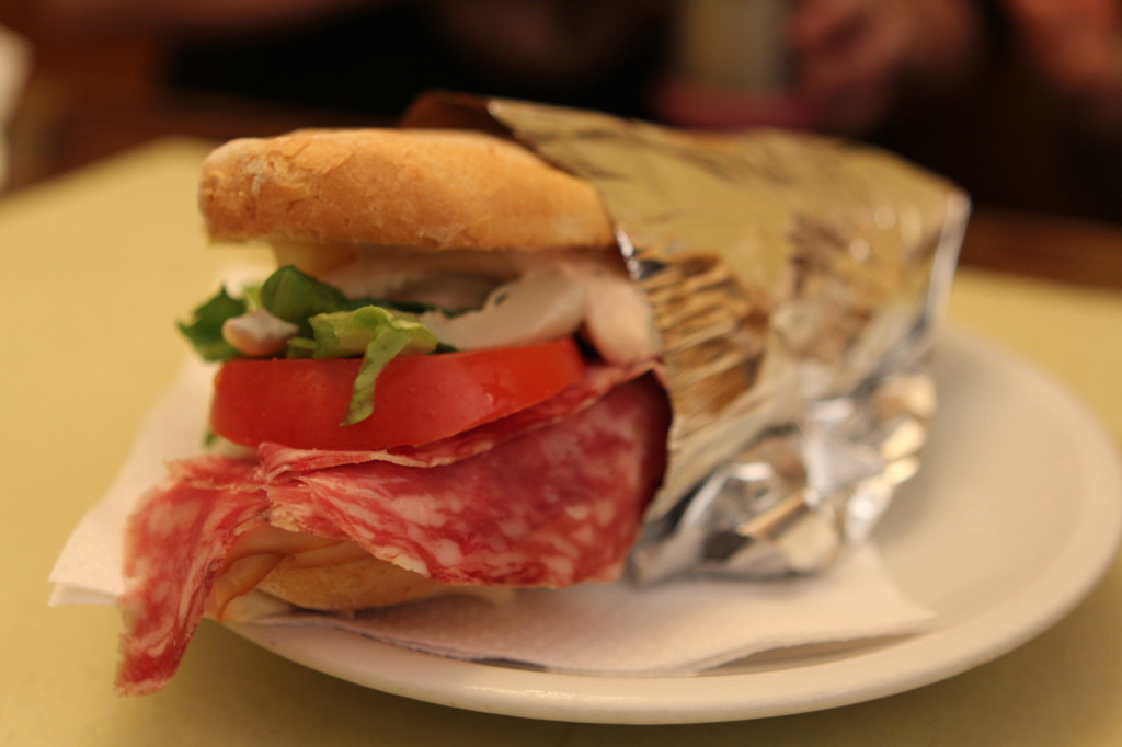 Incredible Panino at Bar Della Crocetta