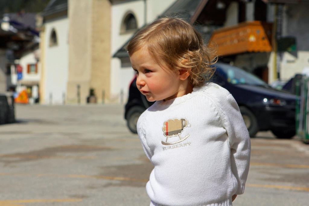 Julia walks the same streets of Canale d'Agordo; where Pope Giovanni Paolo I walked as a small boy