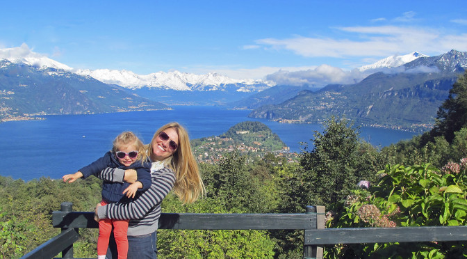 Jen and Julia above Lake Como