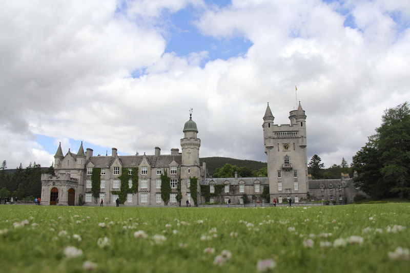 The regal Balmoral Castle in Ballater, Scotland