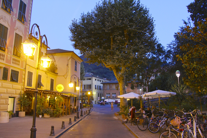 Strolling the streets of Levanto at night