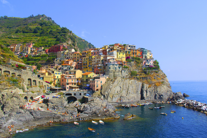 The cliff top town of Manarola