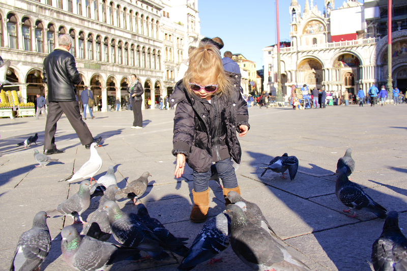 She decided to start feeding the birds