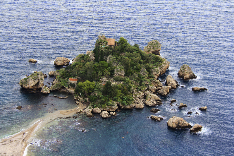 Ìsula Bedda is local dialect for Isola Bella, or Beautiful Island