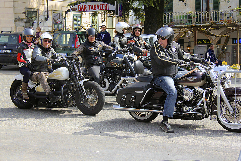 I was loving the group of Harley riders that rolled into town