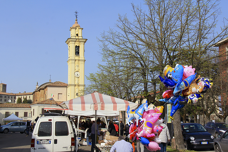The town fills up each Sunday in March