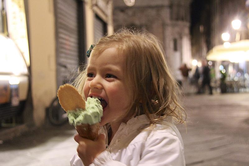 Gelato in Lucca