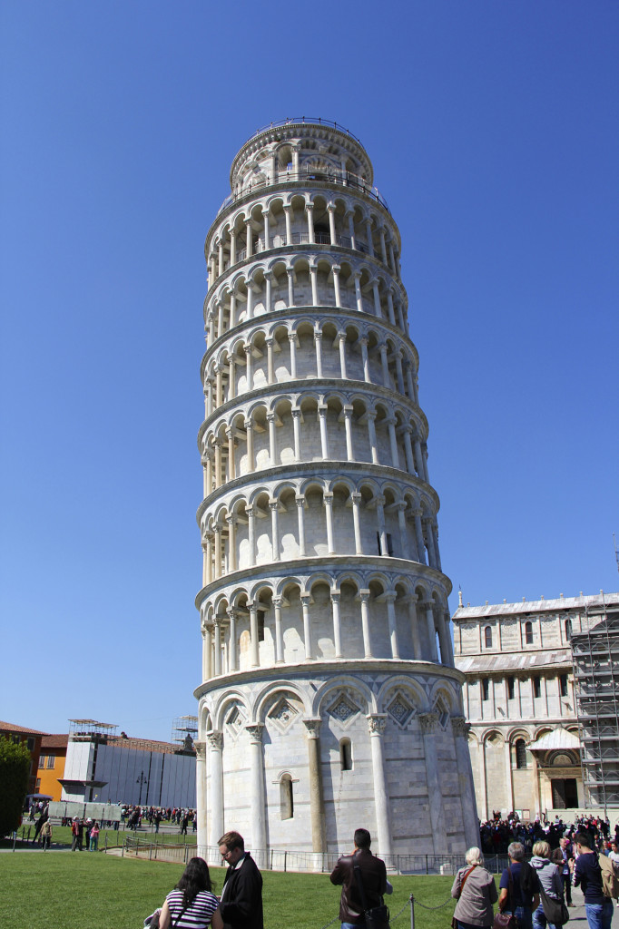 Work on the tower began in 1173 and took 199 years to complete