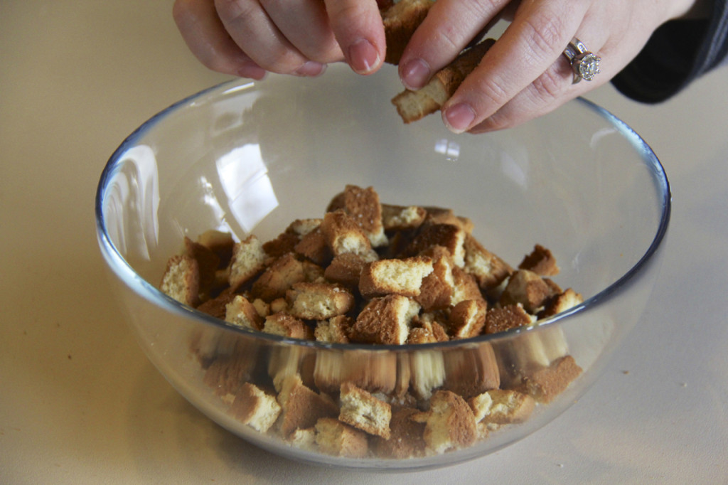 Break the bits of biscotti