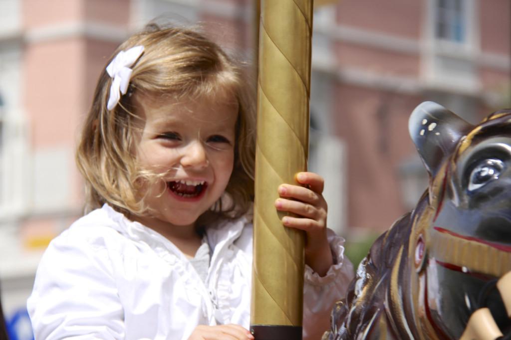 Julia rode a merry-go-round
